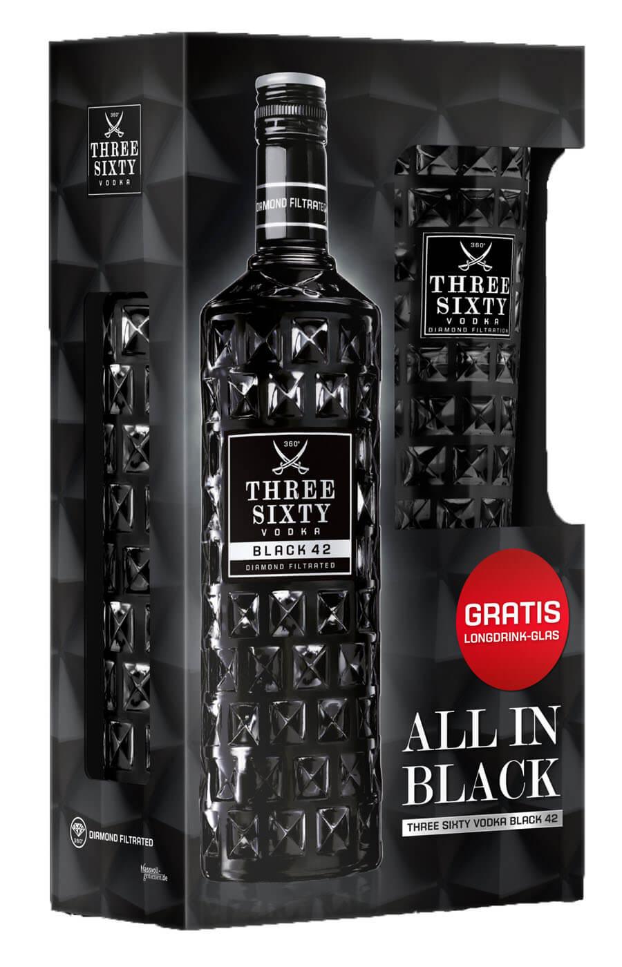 news three sixty vodka mit geschenkset promotion im. Black Bedroom Furniture Sets. Home Design Ideas