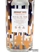 Absolut Elyx Rückseite Etikett