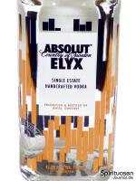 Absolut Elyx Vorderseite Etikett