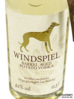 Windspiel Barrel Aged Potato Vodka 2016 Vorderseite Etikett