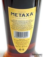 Metaxa 7 Sterne Rückseite Etikett