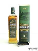 Bushmills 10 Jahre Verpackung und Flasche