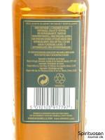 Bushmills 10 Jahre Rückseite Etikett