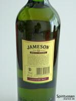 Jameson 12 Jahre Special Reserve Rückseite Etikett