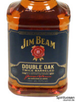 Jim Beam Double Oak Vorderseite Etikett