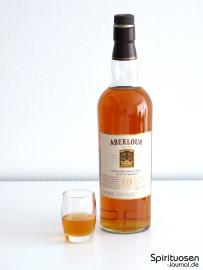 Aberlour 10 Jahre Glas und Flasche