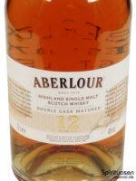 Aberlour 12 Jahre Double Cask Vorderseite Etikett