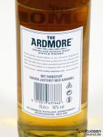 Ardmore Legacy Rückseite Etikett