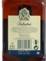 Ballantine's Finest Rückseite Etikett
