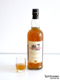 Blackstone Highland Single Malt Whisky 18 Jahre Glas und Flasche