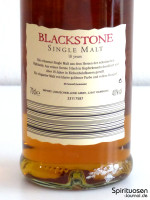 Blackstone Single Highland Malt Scotch Whisky 18 Jahre Rückseite Etikett