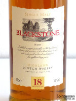 Blackstone Single Highland Malt Scotch Whisky 18 Jahre Vorderseite Etikett