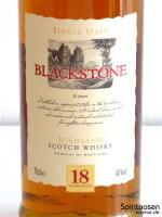 Blackstone Highland Single Malt Whisky 18 Jahre Vorderseite Etikett
