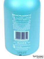 Bruichladdich Scottish Barley 'The Classic Laddie' Rückseite Etikett