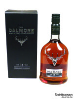 The Dalmore 15 Jahre Verpackung und Flasche
