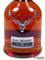 The Dalmore 15 Jahre Vorderseite Etikett