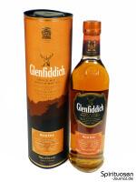 Glenfiddich Rich Oak 14 Jahre Verpackung und Flasche
