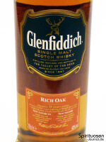 Glenfiddich Rich Oak 14 Jahre Vorderseite Etikett