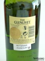 The Glenlivet 12 Jahre Rückseite Etikett