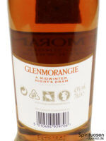 Glenmorangie A Midwinter Night's Dram Rückseite Etikett