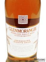 Glenmorangie A Midwinter Night's Dram Vorderseite Etikett