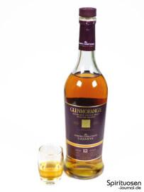 Glenmorangie Lasanta Glas und Flasche