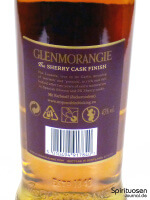 Glenmorangie Lasanta Rückseite Etikett