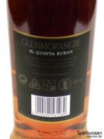Glenmorangie Quinta Ruban Rückseite Etikett
