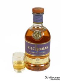Kilchoman Sanaig Glas und Flasche