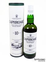 Laphroaig 10 Jahre Verpackung und Flasche