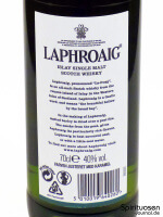 Laphroaig 10 Jahre Rückseite Etikett