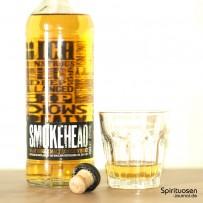 Smokehead Islay Single Malt Flasche, Verschluss und Glas