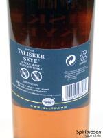 Talisker Skye Rückseite Etikett