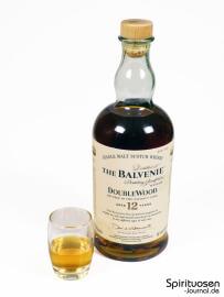 The Balvenie DoubleWood 12 Jahre Glas und Flasche