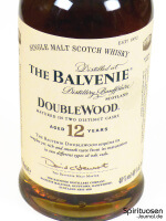 The Balvenie DoubleWood 12 Jahre Vorderseite Etikett