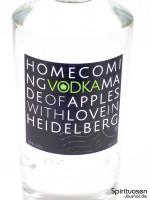 Homecoming Vodka Vorderseite Etikett