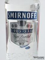 Smirnoff Twist Blueberry Vorderseite Etikett