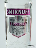 Smirnoff Twist Raspberry Vorderseite Etikett