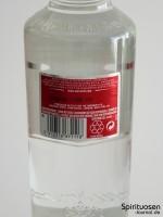 Smirnoff Red Label No.21 Rückseite Etikett