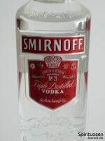 Smirnoff Red Label No.21 Vorderseite Etikett